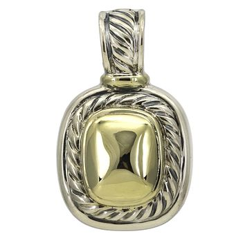 David Yurman Albion Enhancer in 14k Gold and Sterling Silver