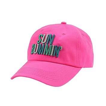 Sun Bummin' Cap in Neon Pink by Jadelynn Brooke - FINAL SALE