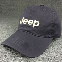 Vintage Gray Jeep Embroidered Baseball Cap Hat