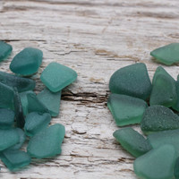 Dark Teal - Emerald - Forest Green Tiny Sea Glass Bulk