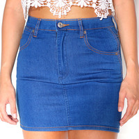 Oh Boy Denim Skirt