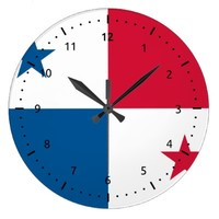 Panamanian flag Wall Clocks