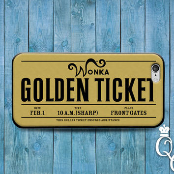 iPhone 4 4s 5 5s 5c 6 6s plus iPod Touch 4th 5th 6th Generation Cover Funny Gold Cute Famous Movie Golden Ticket Cool Custom Fun Phone Case
