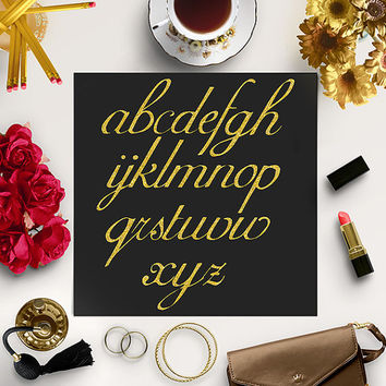 Gold Glitter Alphabet Clipart / Gold Glitter Letters / Glitter Alphabet Clip Art / Gold Alphabet Letters / Coupon Code: BUY5FOR8