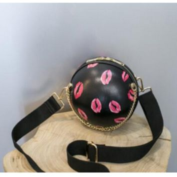ball sphere crossbody purse handbag clutch tg