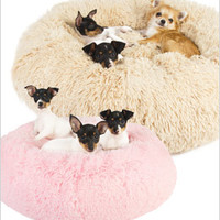 Powder Puff Shag Dog Beds by Susan Lanci