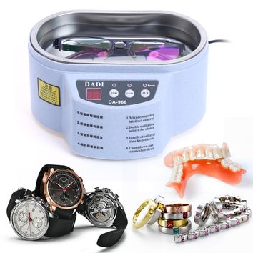 40KHz 600ML Smart Ultrasonic Cleaner for Jewelry Glasses Circuit Boards Ornament Toothbrush Circuit Board Cleaning Machine