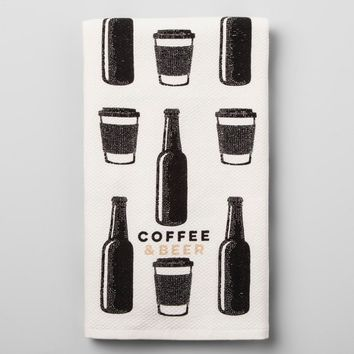 Black White And Tan Kitchen Towel - Room Essentials™