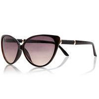 River Island Womens Brown cat eye sunglasses