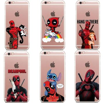 Deadpool Dead pool Taco Funny Spiderman  Unicorn  Marvel Hard Phone Case Cover For iPhone 5 5S SE 6 6S Plus X 7 7Plus 8 8Plus AT_70_6