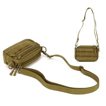Tactical Utility MOLLE Hip Pack Pouch Outdoor Nylon Messenger Bag Protector Plus Outdoor Woodland Military Waist Belt Bag