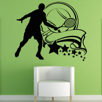Vinyl Wall Decal Sticker Tennis Design #5114