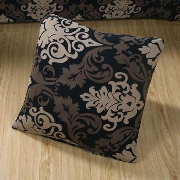 45x45cm printing floral Pillow case Cover modern cushion Covers elastic slipcover bedding set cover match sofa covers