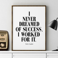 INSPIRATIONAL QUOTE Fashion Quote Print Printable Estee Lauder Fashion Poster Inspirational Quote Modern Poster Wall Art Typography Fashion