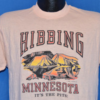 80s Hibbing Minnesota Its the Pits Funny t-shirt Medium
