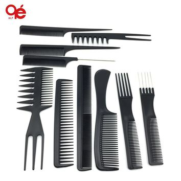 Hair Combs 10pcs/ Plastic barbers set of brushes