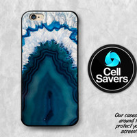 Agate Crystal iPhone 6s Case iPhone 7 Plus iPhone 6 Plus iPhone 6s + iPhone 5c iPhone 5 iPhone SE Blue Turquoise Rock White Geode Tumblr New