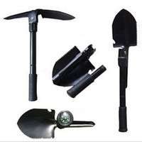 4 in1 Foldable Folding Shovel Spade Emergency Garden Shovel Outdoor Camping Tool