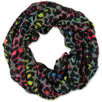 D&Y Leopard Print Grey Infinity Scarf at Zumiez : PDP