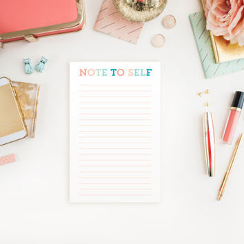 To Do List Notepad - Note to Self - Christmas Gift - Office Supply - Desk Organization - 5.5x8.5