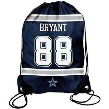 Dez Bryant #88 Dallas Cowboys Jersey Back Pack/Sack Drawstring gym Bag