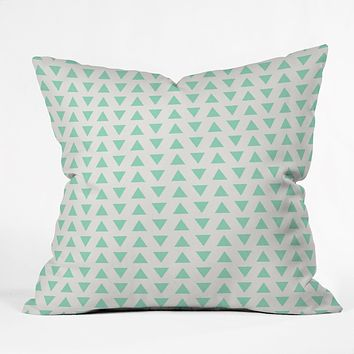 Allyson Johnson Minty Triangles Throw Pillow