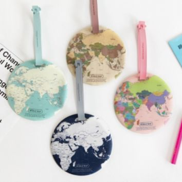 World Map Travel Tag
