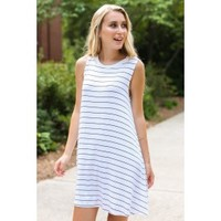 Addicted To You Striped Swing Dress