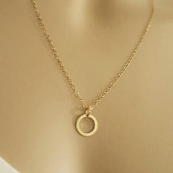 Karma Necklace Sterling Silver Gold Fill Circle Eternity | LaLaMood