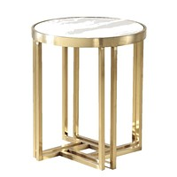 Marble Round With  Golden Base Coffee Table