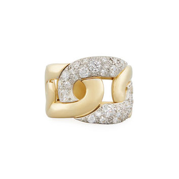 Pomellato Tango Diamond Link Ring in 18K Gold, Size 53