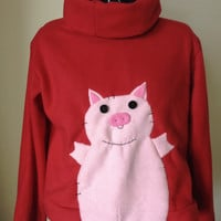 Waddles! Mabel Pines Inspired Custom Cosplay Sweater - Any Style FLEECE applique - MADE to ORDER!