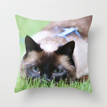 Splendor In The Grass Throw Pillow by Theresa Campbell D'August Art