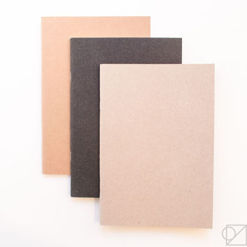 Yamamoto Paper Three Plain Notebooks with Different Purposes