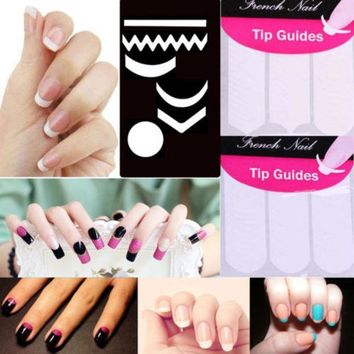 CREYHY3 2 Pack Striping Line French Manicure Form Nail Art Tape Sticker DIY Stencil 9.8G0.6Y