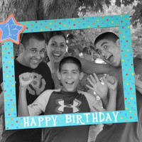 "Photo Booth Frame 34""x28""/Birthday Photobooth Frame/Happy Birthday Frame Prop/Photo Booth Prop/Photobooth/Photobooth Frame Prop"