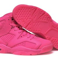 Hot Nike Air Jordan 6 Retro Women Shoes All Pink