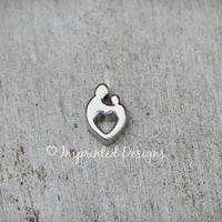 Mother Child Charm - Floating Charm - Mother And Child - Locket Charm - Memory Locket Charm