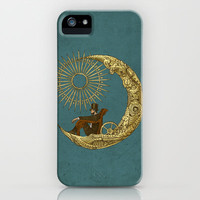 Moon Travel iPhone & iPod Case by Eric Fan