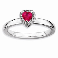 Sterling Silver Stackable Expressions Diamond Ring