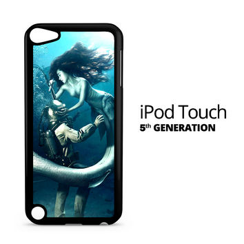 Diver and The Mermaid iPod Touch 5 Case