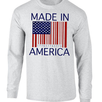 'Made In America' Long Sleeve Tee