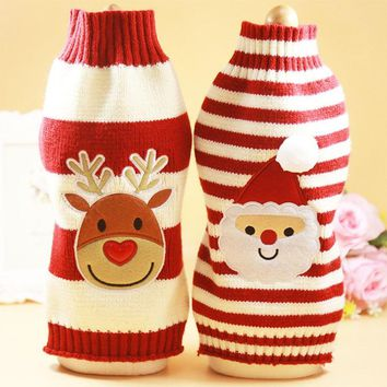 Santa Dog Clothes Winter Pets Dogs Clothing Christmas Dogs Sweaters Pet Hoodie New Year Clothes For Dog Chihuahua Pets Products