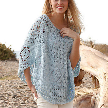 Hand Knitted poncho / top / sweater / vest for women