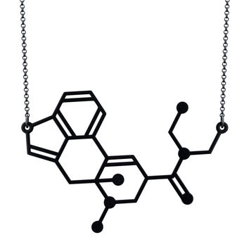 Lsd Molecule Necklace Aroha Silhouettes From