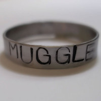 Harry Potter Muggle Stamped Stainless Steel by dweebishdelights