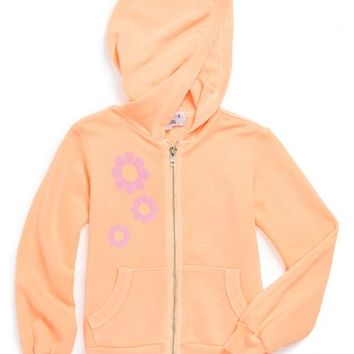 Girl's Wildfox 'Flower Girl' Full Zip Hoodie