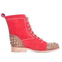 World of LUKA: Studded Boot Women's Red, at 49% off!