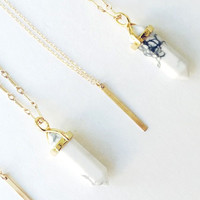 Howlite Point Necklace - Christine Elizabeth Jewelry