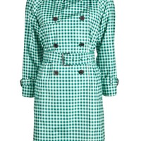 MARC JACOBS GINGHAM TRENCH COAT